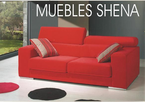 Sofa moderno reclinable tapizado rojo mejor precio for Sofa tapizado moderno