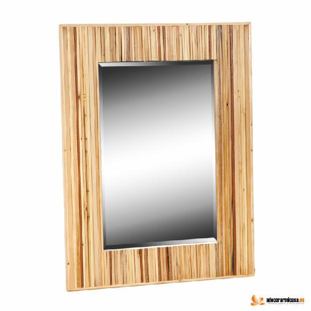 Espejo de pared vietnam madera de nogal mejor precio for Pared de espejo precio