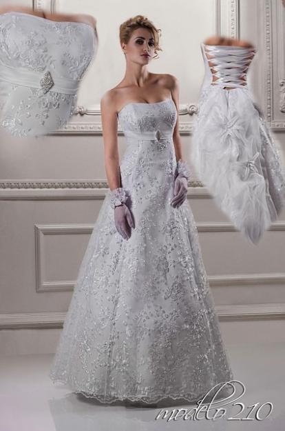 Vestidos de novia con velo y guantes