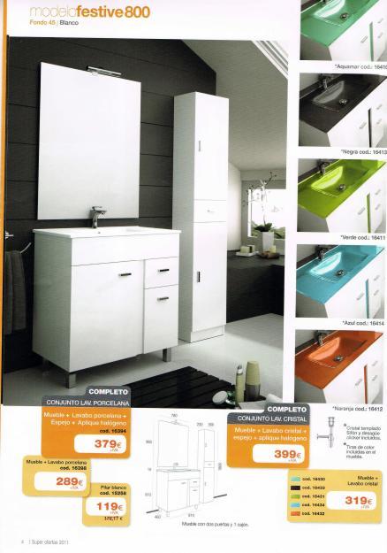 Oferta especial en venta de muebles de ba o economicos for Oferta muebles de bano baratos
