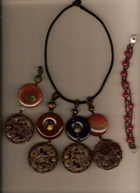 collares de piedra semi-preciosa,perla cultivada,coral