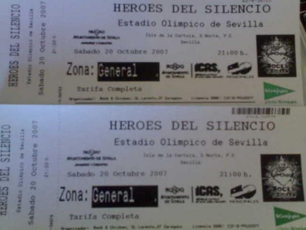Vendo entradas Heroes Del Silencio (Sevilla)