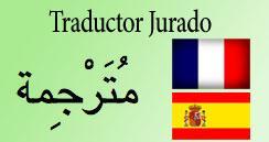 Traductor oficial francés arabe. traduccion jurada. barato