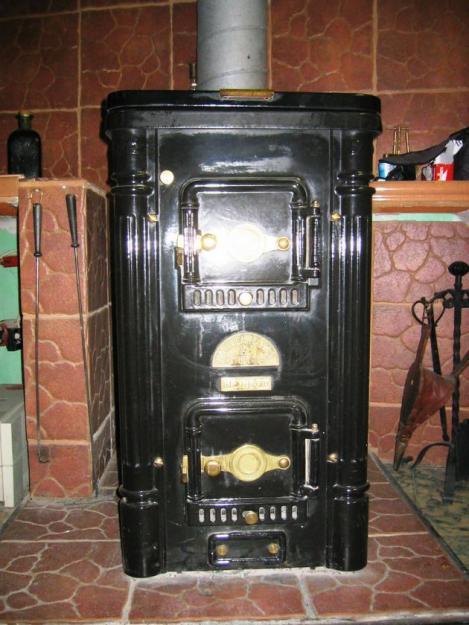 Estufa calefactora de le a con cocina mejor precio for Cocina lena calefactora