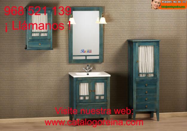 Muebles de ba o r sticos en oferta 270073 mejor precio for Ofertas muebles de bano