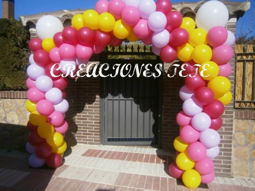 Globos con helio y decoracion con globos mejor precio for Decoracion con globos precios