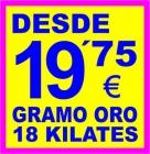 COMPRO ORO VALENCIA - MURCIA - ALBACETE - ALICANTE - PAGAMOS SIEMPRE PRECIOS ALTOS. - mejor precio | unprecio.es