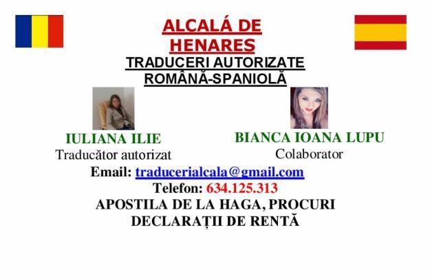 Traducciones oficiales rumano-español / Poderes (zona Alcalá de Henares)