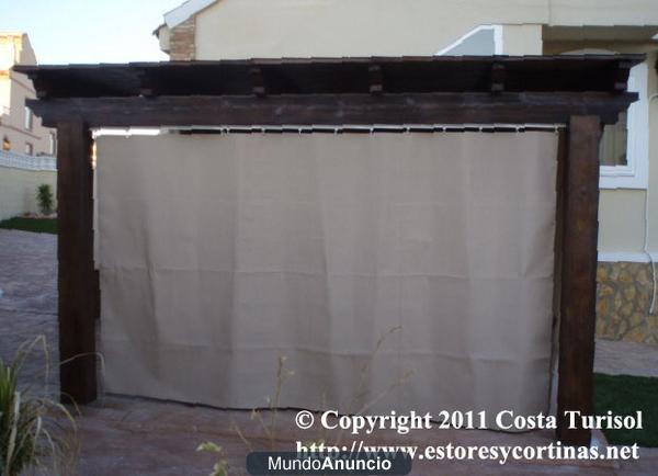 Puertas plegables estores cortinas de lona para porches pergolas divisiones mejor precio - Estores para balcones ...