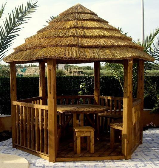 Cenadores pergolas parasoles porches muebles de - Cenadores de jardin ...