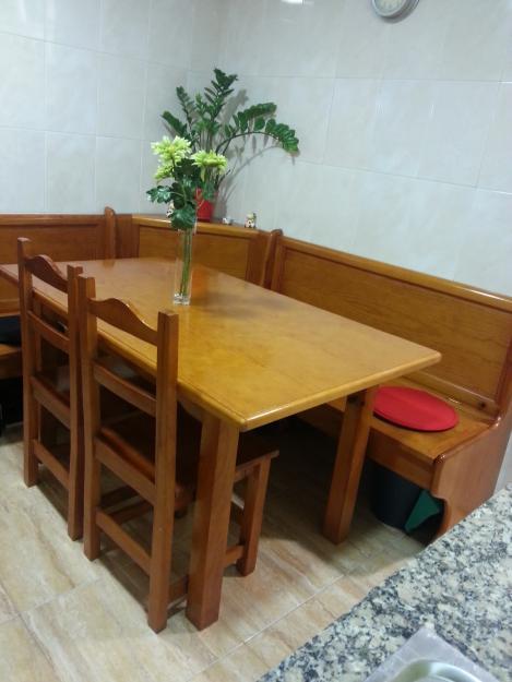 Mesa de cocina y banco rinconera mejor precio for Bancos de jardin precios