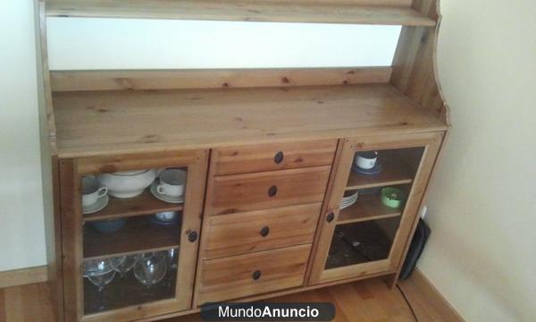 Mueble aparador leksvik ikea mejor precio for Mueble rustico ikea
