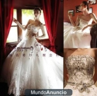 2012 Super brillante cristal diamante grande de la boda Bra cola cola vestido de novia H-080 - mejor precio | unprecio.es