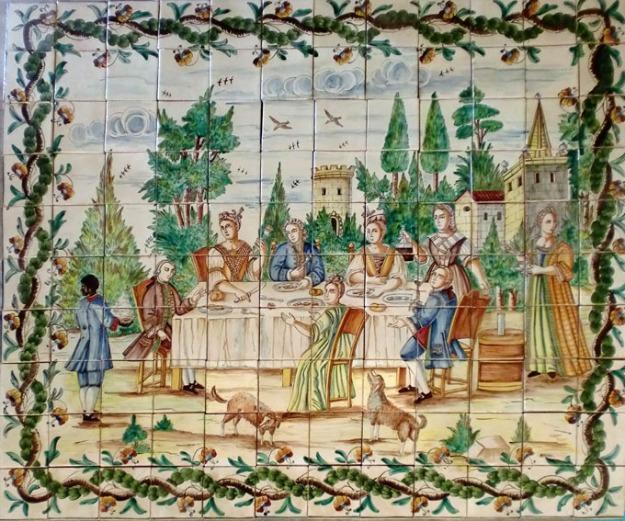 mural azulejos pintados a mano mejor precio