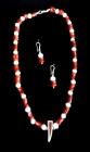 collar de plata, coral y perlas. - mejor precio | unprecio.es