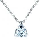 Colgante de oro blanco de 18 kilates con diamante talla brillante - mejor precio   unprecio.es