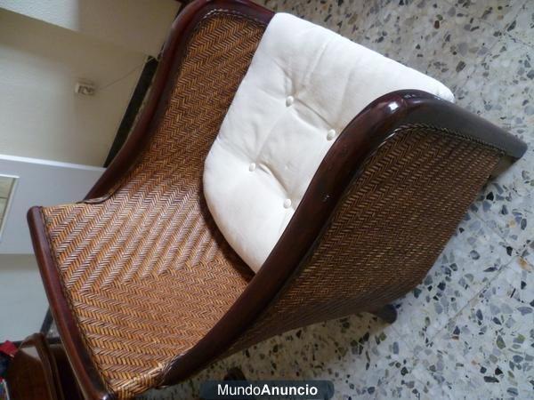 Vendo sillon colonial poquisimo uso impecable mejor for Vendo sillon cama