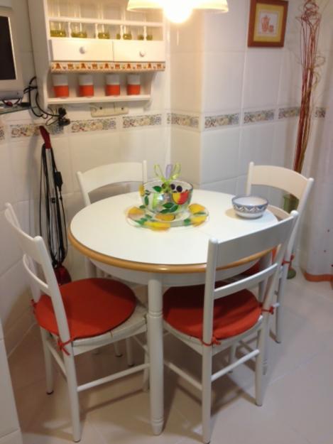 Mesa de cocina extensible con 4 sillas nuevas mejor for Precio de cocinas nuevas
