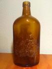 Botella LARIOS MÁLAGA Marrón. Muy antigua.Marca labrada en el propio cristal - mejor precio | unprecio.es