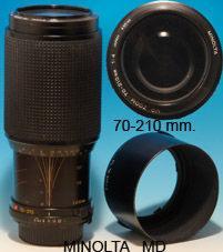 Zoom Minolta 70-210 mm analogico
