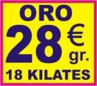 COMPRO ORO - PAGO 28,00 EUROS GRAMO JOYAS ORO 18 KILATES. - mejor precio   unprecio.es
