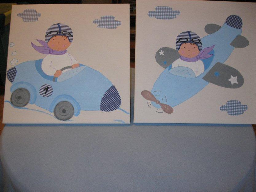 Cuadros infantiles pintados a mano y personalizados - Cuadros para ninos personalizados ...