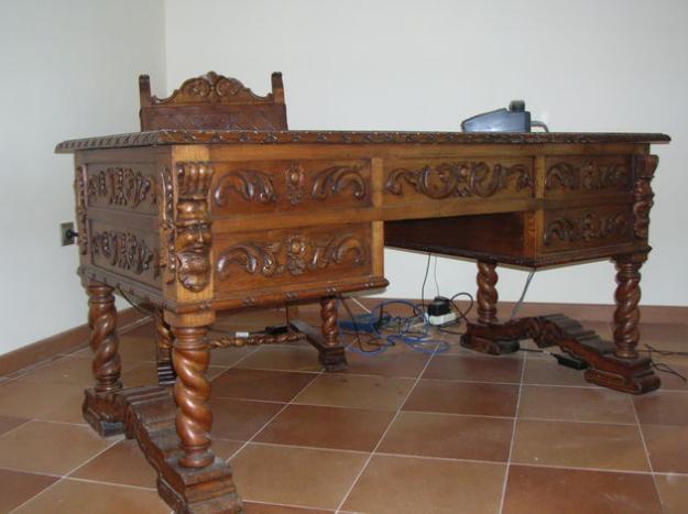 Mesa sill n y sillas de despacho antiguos mejor precio for Precio mesa de despacho
