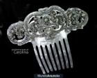 Peina de novia en nácar, plata y cristal de swarovski - mejor precio | unprecio.es