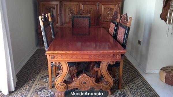 Muebles castellanos cl sicos medievales tallados a mano - Muebles castellanos ...