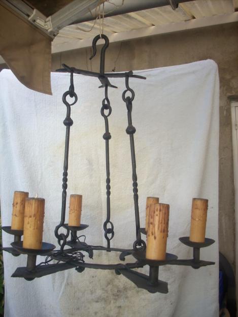 Lampara de forja de estilo rustico mejor precio - Lamparas estilo rustico ...