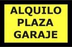 Alquilo 2 plazas de garaje - mejor precio | unprecio.es