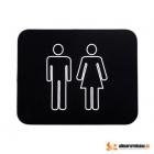 Set 2 Alfombras de baño neopreno negro - mejor precio | unprecio.es