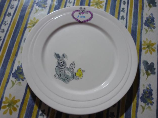 Vajilla porcelana personalizada mejor precio for Vajilla bebe personalizada