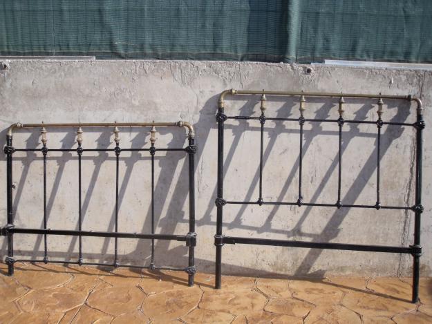 Vendo cama antigua mas de 100 a os de hierro forjado y - Cabecero hierro forjado ...