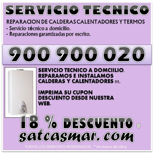 Servicio tecnico roca.. reparacion calderas y calentadores 900-901-075 sat