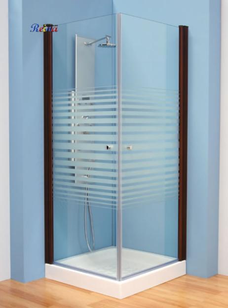 Ahorro en cierres ducha mampara de ducha indo nogal for Precio mampara ducha