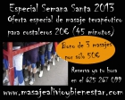 Oferta Quiromasaje Terapéutico especial Semana Santa - mejor precio | unprecio.es