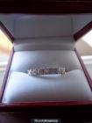 anillo oro blanco y diamantes - mejor precio   unprecio.es