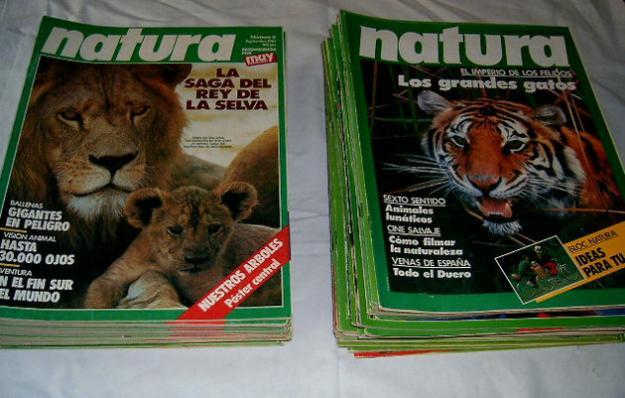 Natura. Lote de 53 revistas. Naturaleza. Animales
