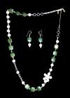 Collar y pendientes de diseño en plata, perlas y semipreciosas - mejor precio   unprecio.es