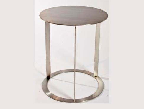 Mesa auxiliar redonda de acero pulido mejor precio - Mesa auxiliar redonda ...