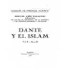 Dante y el Islam. Prólogo de Emilio García Gómez. --- Voluntad, Colección Manuales Hispania, 1927, Madrid. - mejor precio   unprecio.es