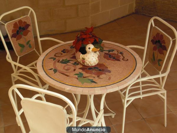Conjunto de mesa de jardin 220020 mejor precio for Mesa mosaico jardin