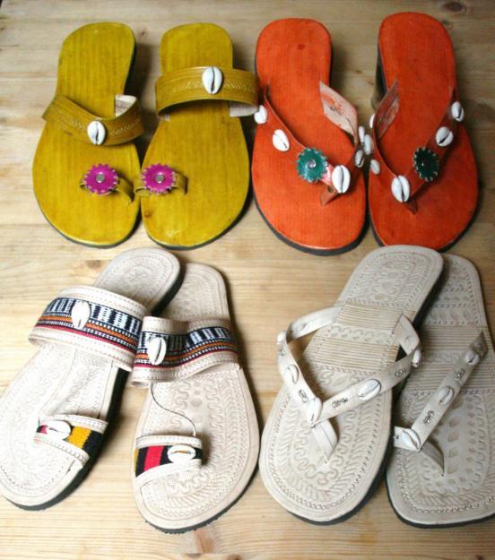 sandalias hippies de cuero