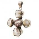 En topplata.com Colgante plata 925 en forma de cruz con piedras de nácar. 36€ - mejor precio | unprecio.es