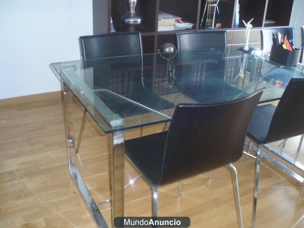 Mesa escritorio cristal con su respectiva silla giratoria - Mesa escritorio cristal ...