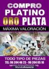 COMPRO PLATA ,PLATINO, ORO EN VALENCIA. - mejor precio   unprecio.es