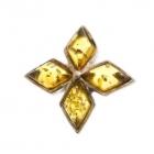 Topplata.com Colgante de plata en forma de flor con piedras de ambar. Peso: 6 gramos. 23€ - mejor precio | unprecio.es
