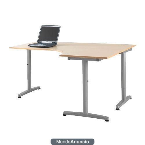 Mesa escritorio galant ikea ala lado izdo sop ordenador for Mesa escritorio ikea
