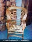 Fabricacion y venta de sillones de mimbre - mejor precio | unprecio.es